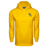 Under Armour Gold Performance Sweats Team Hoodie-CU with Yellow Jacket