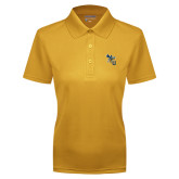 Ladies Gold Dry Mesh Polo-CU with Yellow Jacket