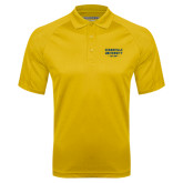 Gold Textured Saddle Shoulder Polo-Cedarville University EST. 1887
