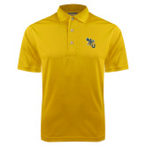 Gold Dry Mesh Polo-CU with Yellow Jacket