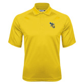 Gold Dri Mesh Pro Polo-CU with Yellow Jacket