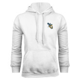 White Fleece Hoodie-CU with Yellow Jacket