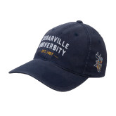Navy OttoFlex Unstructured Low Profile Hat-Cedarville University EST. 1887