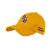 Gold Twill Unstructured Low Profile Hat-CU with Yellow Jacket