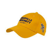 Gold Twill Unstructured Low Profile Hat-Cedarville University EST. 1887