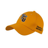 Gold Heavyweight Twill Pro Style Hat-CU with Yellow Jacket