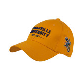 Gold Heavyweight Twill Pro Style Hat-Cedarville University EST. 1887