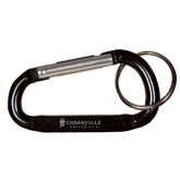 Black Carabiner with Split Ring-Cedarville University Engrave
