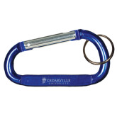 Blue Carabiner with Split Ring-Cedarville University Engrave