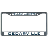Metal License Plate Frame in Black-Cedarville