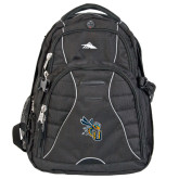 High Sierra Swerve Black Compu Backpack-CU with Yellow Jacket