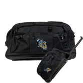 Urban Passage Wheeled Black Duffel-CU with Yellow Jacket