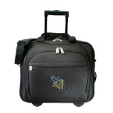 Embassy Plus Rolling Black Compu Brief-CU with Yellow Jacket