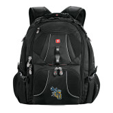 Wenger Swiss Army Mega Black Compu Backpack-CU with Yellow Jacket
