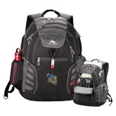 High Sierra Big Wig Black Compu Backpack-CU with Yellow Jacket