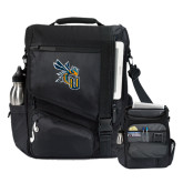 Momentum Black Computer Messenger Bag-CU with Yellow Jacket