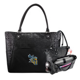 Sophia Checkpoint Friendly Black Compu Tote-CU with Yellow Jacket