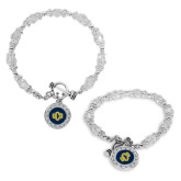 Crystal Jewel Toggle Bracelet with Round Pendant-Official Logo