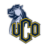 Medium Decal-UCO with Mascot, 8 inches tall