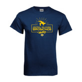 Navy T Shirt-Bronchos Wrestling