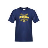 Youth Navy T Shirt-Bronchos Softball