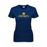 Ladies Navy T Shirt-Central Oklahoma Football