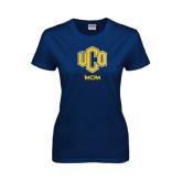Ladies Navy T Shirt-UCO MOM