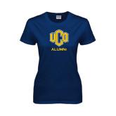 Ladies Navy T Shirt-UCO Alumni