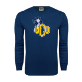 Navy Long Sleeve T Shirt-UCO with Mascot