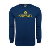 Navy Long Sleeve T Shirt-Central Oklahoma Football