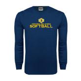 Navy Long Sleeve T Shirt-Central Oklahoma Softball