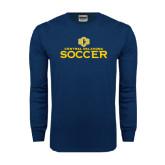 Navy Long Sleeve T Shirt-Central Oklahoma Soccer