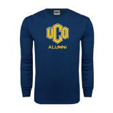 Navy Long Sleeve T Shirt-UCO Alumni