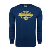 Navy Long Sleeve T Shirt-Bronchos Football