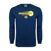 Navy Long Sleeve T Shirt-Bronchos Soccer