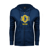 ENZA Ladies Navy Fleece Full Zip Hoodie-UCO MOM