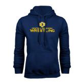 Navy Fleece Hoodie-Central Oklahoma Wrestling