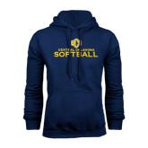Navy Fleece Hoodie-Central Oklahoma Softball