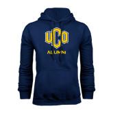 Navy Fleece Hoodie-UCO Alumni
