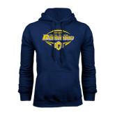 Navy Fleece Hoodie-Bronchos Football
