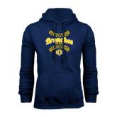 Navy Fleece Hoodie-Bronchos Softball