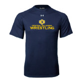 Under Armour Navy Tech Tee-Central Oklahoma Wrestling