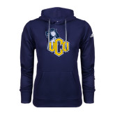 Adidas Climawarm Navy Team Issue Hoodie-UCO with Mascot