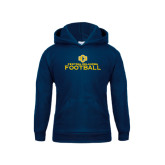 Youth Navy Fleece Hoodie-Central Oklahoma Football