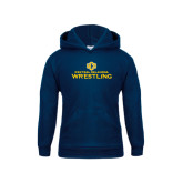 Youth Navy Fleece Hoodie-Central Oklahoma Wrestling