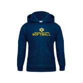 Youth Navy Fleece Hoodie-Central Oklahoma Softball