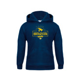 Youth Navy Fleece Hoodie-Bronchos Wrestling