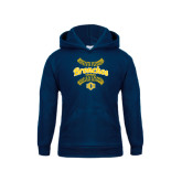 Youth Navy Fleece Hoodie-Bronchos Softball