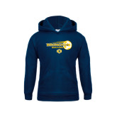 Youth Navy Fleece Hoodie-Bronchos Soccer