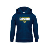 Youth Navy Fleece Hoodie-Central Oklahoma Rowing